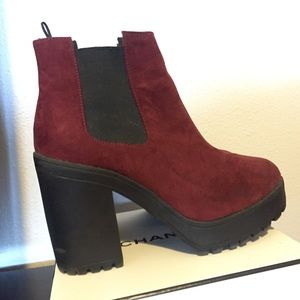 Red Chelsea Boot High Heels